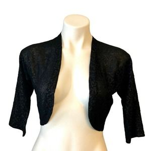 Doncaster Sequined Shrug Cropped S 3/4 Sleeve